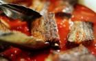 Кебаб с красным вином и томатным соусом