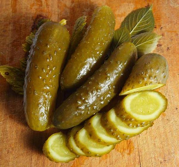 Огурцы консервированные салатные