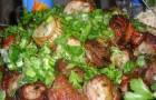 Шашлык из баранины с помидорами и чесноком
