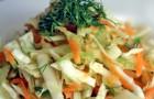 Салат из черной редьки, капусты и других овощей