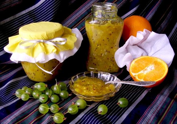 Варенье из крыжовника и апельсинов