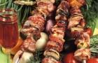 Шашлык из баранины с ливером по-абхазски