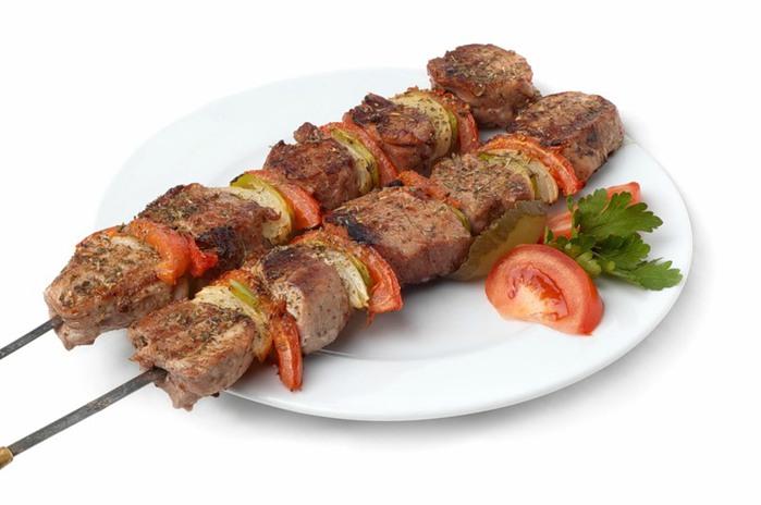 Шашлык из говядины с артишоками