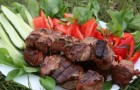 Шашлык из говяжьей печени или почек