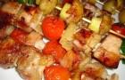 Шашлык из куриной печени в апельсиновом маринаде