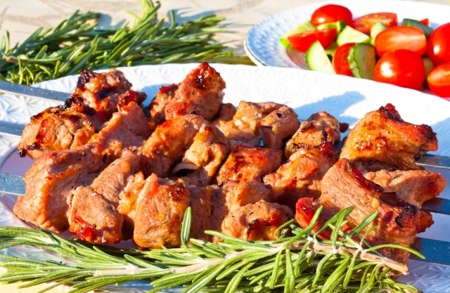 Шашлык из свинины паровой