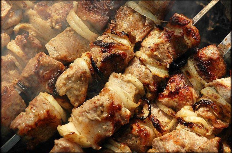 Шашлык из свинины с мадерой