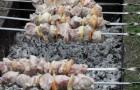 Шашлык из свинины с мочеными яблоками