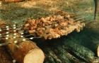 Шашлык из свинины с щавелем