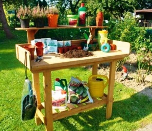 Столик для огорода своими руками 34