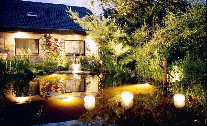 Виды освещения садового участка