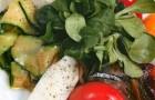 Антипасти из маринованных овощей с домашним сыром