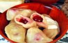 Бабушкины вареники с вишней и ягодным киселем