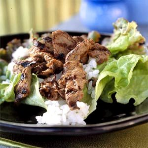 Барбекю из говядины с рисом