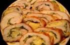Барбекю из курицы с сыром и яблоками