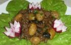 Барбекю из телятины с картофелем и красным вином