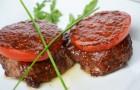 Барбекю из телятины с помидорами
