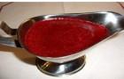 Брусничный соус