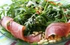 Буженина с рукколой и шафранной квашенной капустой