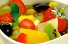 Десерт из фиников и мандаринов