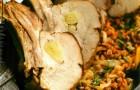 Духовое мясо с гречневой кашей