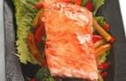 Филе лосося в соусе терияки с овощами
