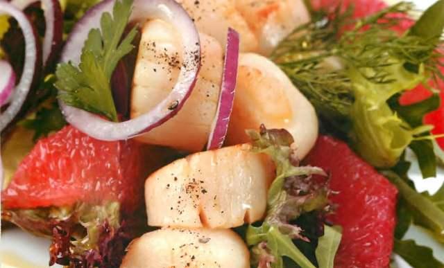 Горячая закуска из морских гребешков