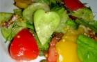 Горячий овощной салат