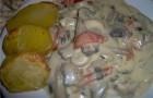 Грибной соус с кореньями и луком