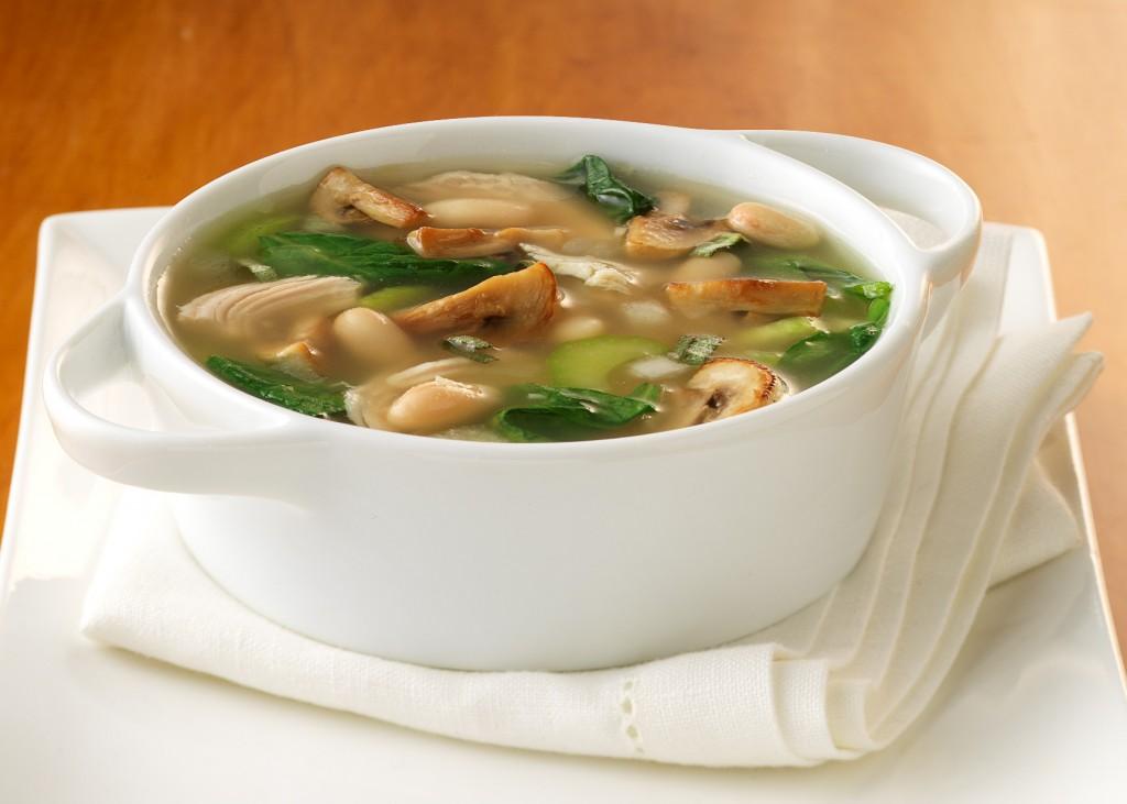 Грибной суп с крупой