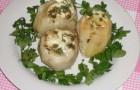 Картофель, фаршированный грибами