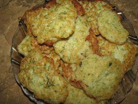 Картофельные оладьи с цукини