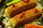 Кебаб из мелкой рыбы