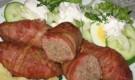Кебаб с начинкой из яиц