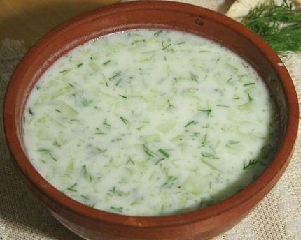 Кефирная заправка с чесноком и зеленью