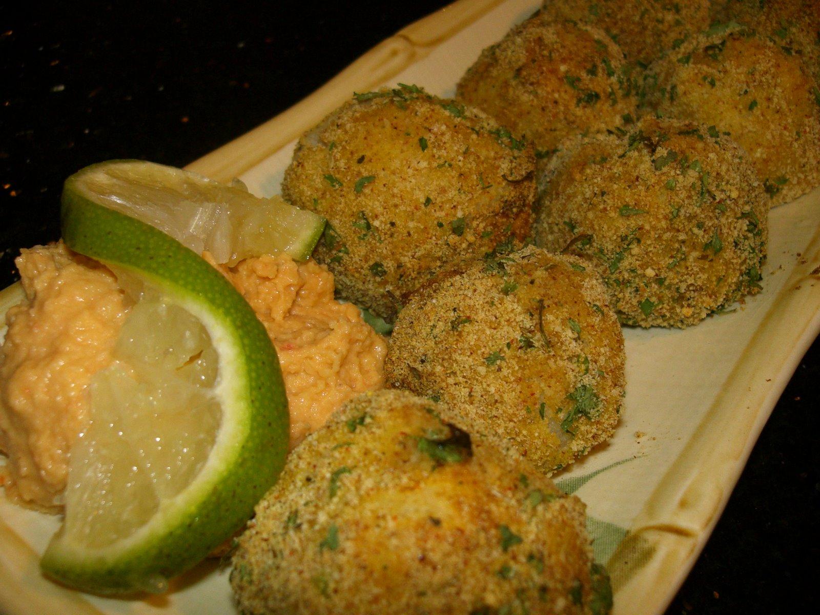 Колобки из картофеля и грибов