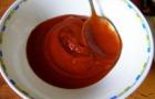 Красный соус с вином