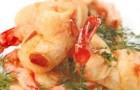 Креветки в кляре с миндалем