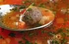 Кукурузный суп с фрикадельками