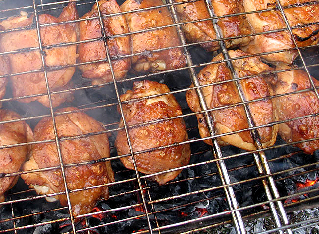 Курица на решетке по-американски