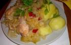 Курица с капустой