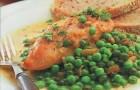 Курица с зеленым горошком