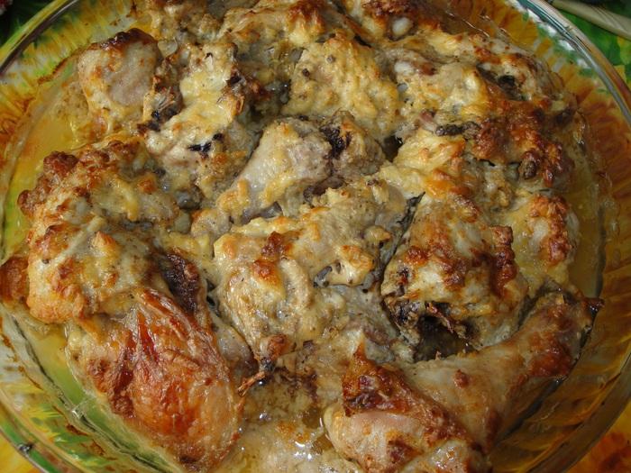 Курица, запеченная с сыром