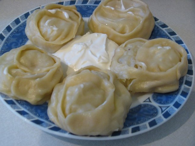 Манты с картофелем