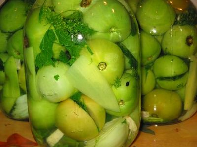 Маринад для зеленых помидоров
