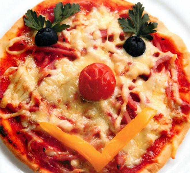 Мини-пицца с ветчиной «Солнышко»