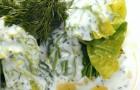 Мясные ежики в савойской капусте со сметанным соусом