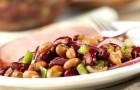 Острый салат из красной фасоли