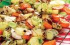 Овощи гриль, маринованные в соусе с пармезаном