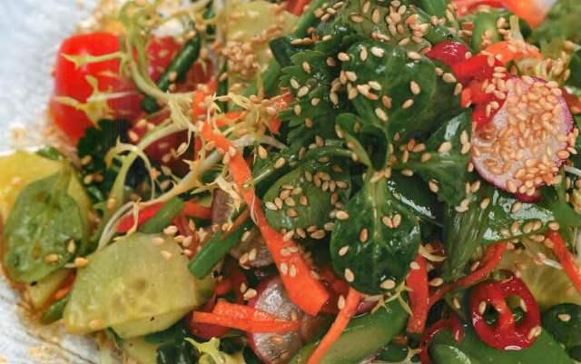Овощной салат в восточном стиле